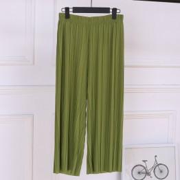 Female Wrinkle High Waist Loose long Leg Pants