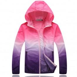 2017 Summer Sunscreen Coat Jacket Unisex Windbreaker Waterproof Thin Hooded Zipper Quick Drying