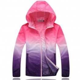 Windbreaker Waterproof Thin Hooded Zipper Quick Drying Unisex