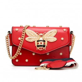 Women's Luxury Diamond Little Bee Shoulder Bag
