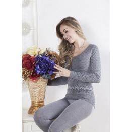 Women's Thermal Underwear Pajama Set Top+ Pant Sleepwear