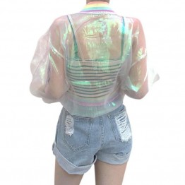 Women's Jacket Laser Rainbow Symphony Hologram jacket