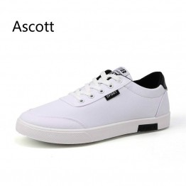 Men's fashion flat casual men's white shoes