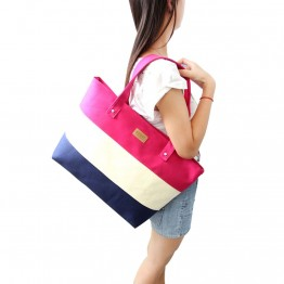 Ladies Hand Canvas Big Beach Shoulder Women Messenger Tote Bag