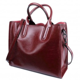 Genuine Leather Women Handbags Designer Brand