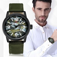 Men's Fashion Camouflage Quartz Watch Nylon Strap