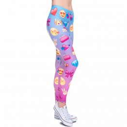 New 3D print Women's Leggings Emoji