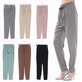 Summer ruffle casual vintage pants
