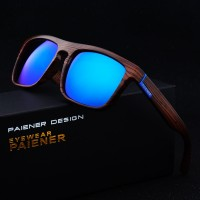 Retro Bamboo Wood Mirror Sunglasses Unisex