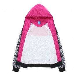 Women's hooded thin Windbreaker Zipper