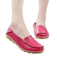 Women's Nurse Loafers Genuine Leather Slip-on