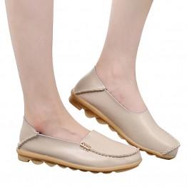 Women's Nurse Loafers Genuine Leather Slip-on