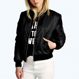 Women's Thin Bomber Jacket  Casual