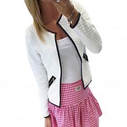 Women's Basic Jacket Long Sleeve Pockets Slim